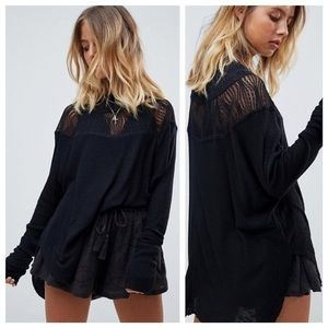 Free People Spring Valley Lace Insert Thermal Top